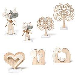 bomboniere oggetti in legno e ceramica