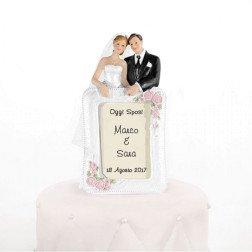 cake topper sposi per torta matrimonio personalizzato