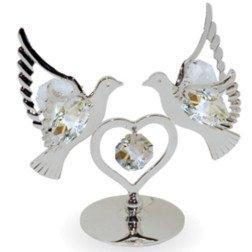 bomboniera colombe in cristallo