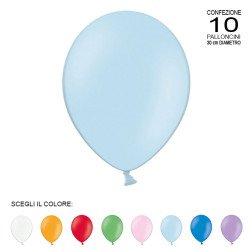 """confezione 10 palloncini grandi 12"""" vari colori"""