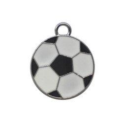 ciondolo pallone da calcio in metallo per bomboniere