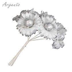 fiore argento per bomboniere fai da te