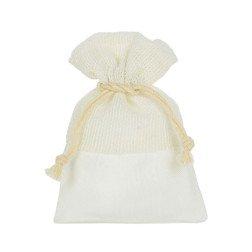 sacchetto portaconfetti tessuto avorio grezzo e tirante in offerta