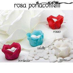 rosa porta confetti per confettata idea originale