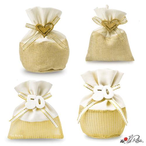 Sacchettini Portaconfetti Nozze D Oro 50 Anni Matrimonio