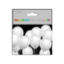 confezione 5 palloncini bianchi illuminati con LED e batteria compresa