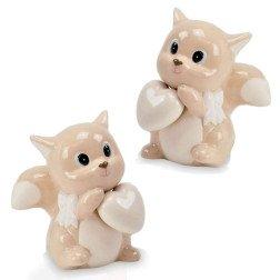 bomboniera scoiattolo porcellana con cuore OFFERTISSIMA