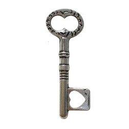 ciondolo chiave in metallo per bomboniere