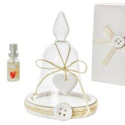 bomboniere offerta profumatore campana con cuore