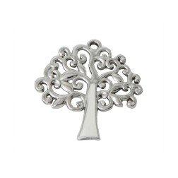 ciondolo albero della vita per bomboniere argento e bianco