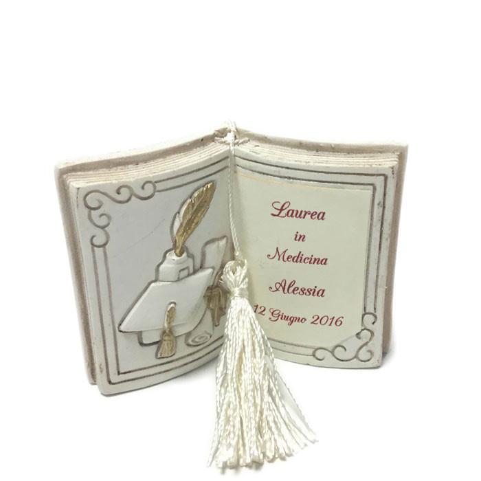 Popolare bomboniera personalizzata libro per laurea Bomboniera PP54