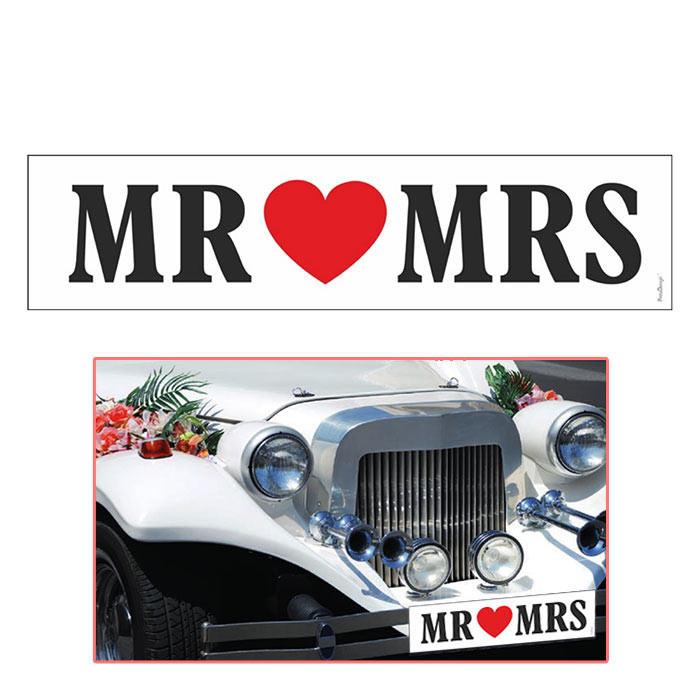 Targa per decorare auto sposi mr and mrs per for Targa oggi sposi