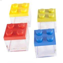 scatolina lego cubo portaconfetti colorati in plexiglas