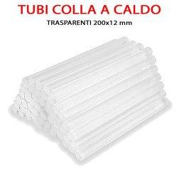 stick tubetti per colla a caldo trasparenti da 12 made in italy