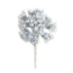 confezione 12 pezzi fiori argento 1,7 cm