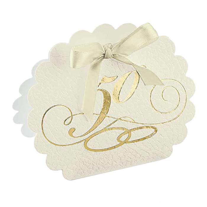 scatolina porta confetti 50° anniversario nozze oro