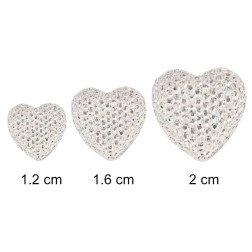 punto luce cuore strass varie misure applicazione per bomboniere