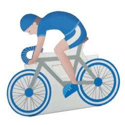 scatolina bicicletta portaconfetti blu