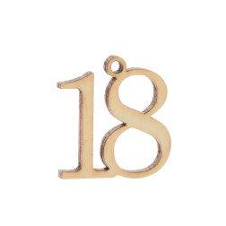 ciondolo numero 18 per bomboniere diciottesimo compleanno