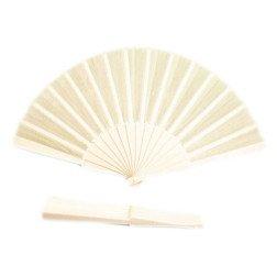 ventaglio in tessuto bianco