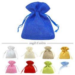 sacchetti porta confetti in juta per bomboniere