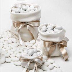 sacchetti porta confetti per confettata in raso elegante