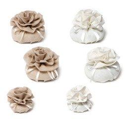 sacchetti in lino con rosa di alta qualità