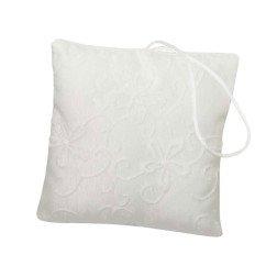 cuscino porta confetti bianco elegante