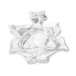 bomboniera matrimonio scatola in vetro a forma di fiore