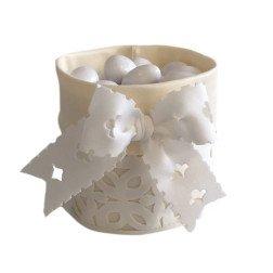 sacchetti porta confetti per confettata in raso e tessuto traforato