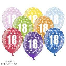 palloncini 18 diciottesimo compleanno colorati 10 pezzi