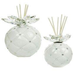 Bomboniere Cristallo profumatore ceramica perla e swarovski