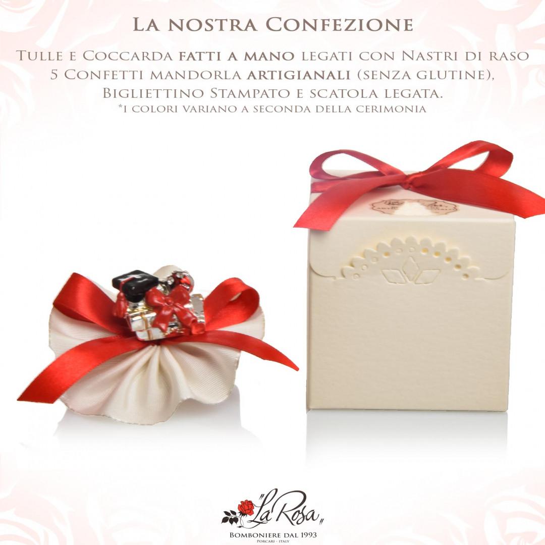 Offertissima bomboniere Laurea libro argento con 382972a51171