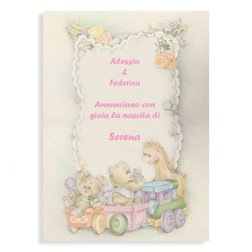 partecipazione per battesimo e nascita unisex stampa OMAGGIO