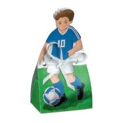 scatolina calciatore portaconfetti azzurro italia