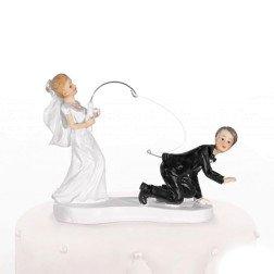 centro torta simpatici sposa pesca lo sposo