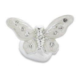 bomboniera farfalla argentata madreperla con strass