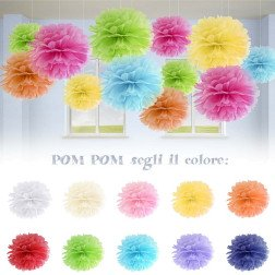 decorazione pom pom in carta