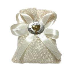 sacchetto panna con placca ovale calice comunione