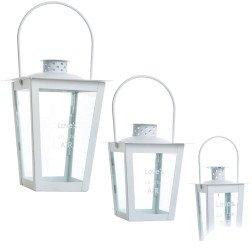 bomboniere lanterne bianche metallo e vetro con scritta