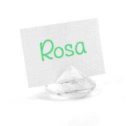 IDEA segnaposto originale a forma di diamante-TRASPARENTE