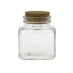barattolino porta confetti in vetro tappo di sughero