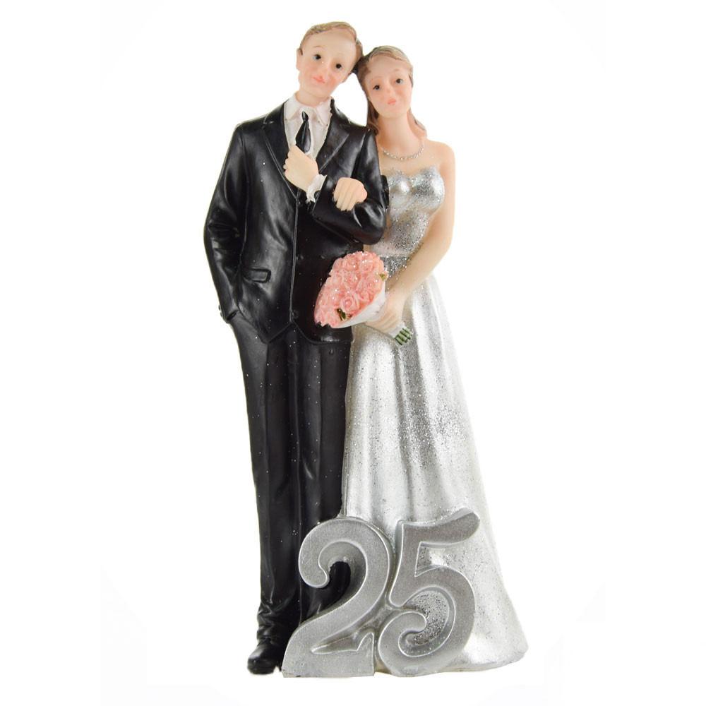 Cuscino Portafedi Nozze D Argento.Centro Torta Nozze D Argento 25 Anni Matrimonio Per