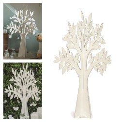 albero della vita in cartone bianco per tableau e allestimenti 120 cm