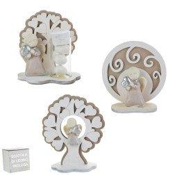 bomboniere angeli in marmo e legno
