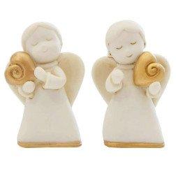 bomboniere angelo bianco con cuore oro effetto marmo