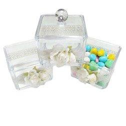 contenitore per confettata 3 pezzi sovrapponibili