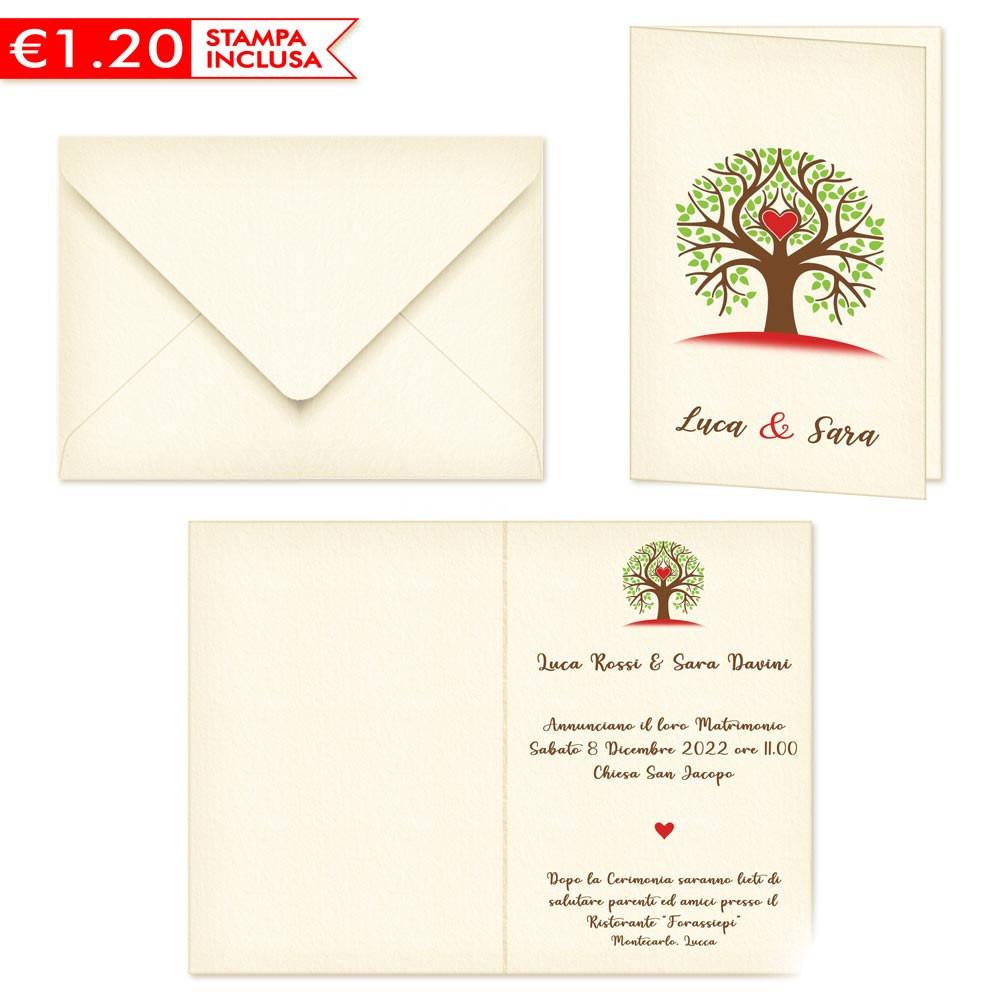 Stampa Partecipazioni Matrimonio.Partecipazioni Matrimonio Albero Della Vita 2020 Stampa