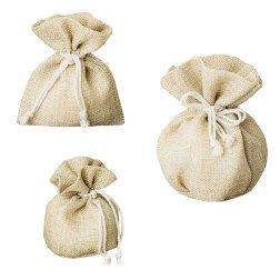 sacchetti portaconfetti rustico juta naturale shabby chic