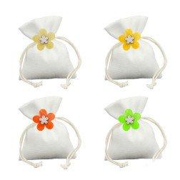 sacchettini portaconfetti flower in 4 colori
